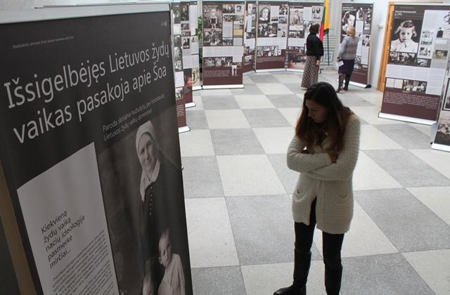 """2016-10-14 Ekspozicija """"Išsigelbėjęs Lietuvos žydų vaikas pasakoja apie Šoa"""""""