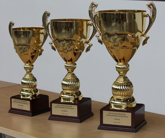 2017-04-27 Iškovojo didžiąją Nacionalinio apdailininkų konkurso taurę.