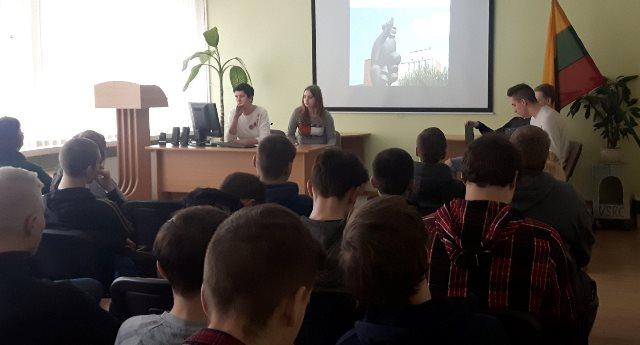 """2018-03-14 Projektas """"Kokia nuostabi, Lietuva, esi""""."""