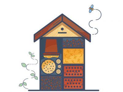 2019-09-02 Kviečiame dalyvauti vabzdžių viešbučio ir gėlyno eskizo piešimo konkurse.