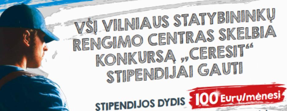 """2019-11-05 Vardinė """"CERESIT"""" stipendija – 100 eurų."""