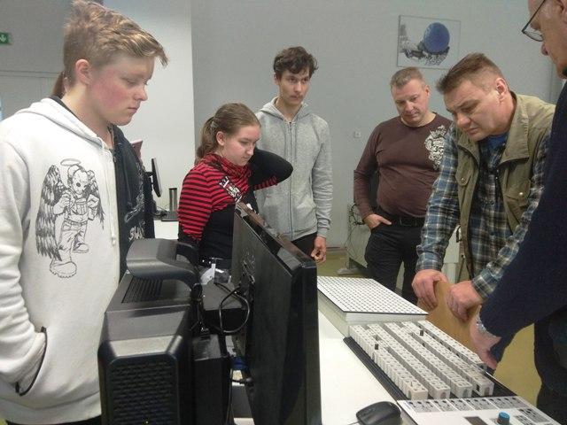 2019-11-18 Pas mus – mokiniai iš Suomijos.